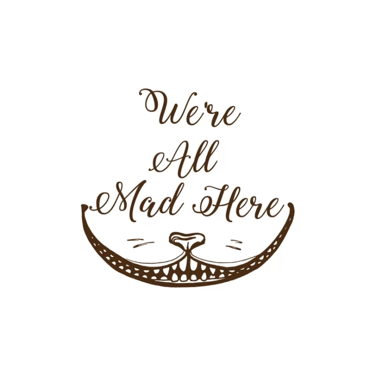 Cohan+Were+All+Mad+Here+Cheshire+Cat+Wall+Decal